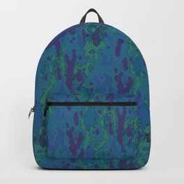 Blue Grotto Abstract Watercolor Backpack