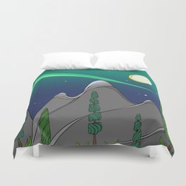 Moonlight on the Mountain Duvet Cover