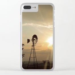 Windpump at dawn Clear iPhone Case