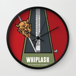 Whiplash - Alternative Movie Poster Wall Clock
