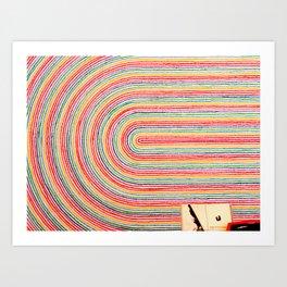 Curve Crayon Art Print
