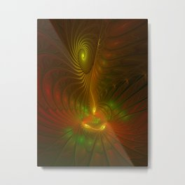 Glowing Fantasy, Abstract Fractal Art Metal Print