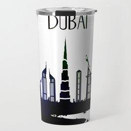 Cool Dubai city skyline view design Travel Mug