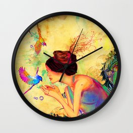 Sweet Content Wall Clock