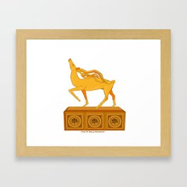 Halla statuette gold Framed Art Print