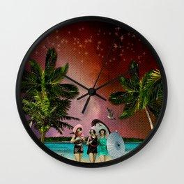 Serenade on the Beach Wall Clock