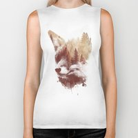 country Biker Tanks featuring Blind fox by Robert Farkas