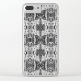 B&W Open Your Eyes Patterned Image Clear iPhone Case