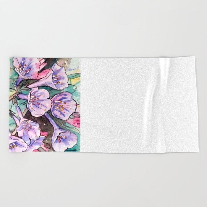 virginia bluebells Beach Towel