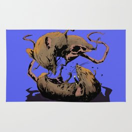 rat fight Rug