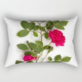 Red roses on white background Rectangular Pillow