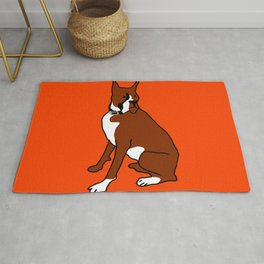 The cool boxer Rug
