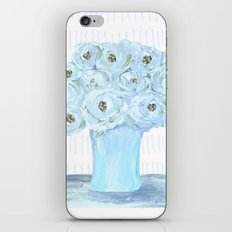 Boho still life flowers in vase iPhone & iPod Skin