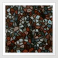 Fractal Gems 03 - Winter Moon Art Print