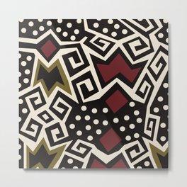 African Tribal Pattern No. 86 Metal Print