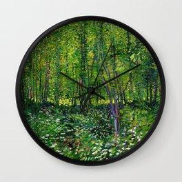 Vincent Van Gogh Trees & Underwood Wall Clock