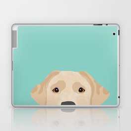 Yellow Lab dog portrait labrador retriever dog art pet friendly Laptop & iPad Skin