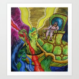 The Turtle King  Art Print