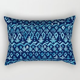 Mya Watercolor - Blue Rectangular Pillow