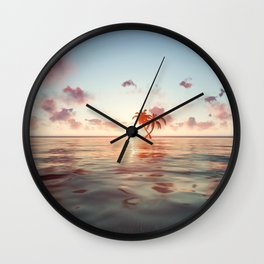 Island in the distance Wall Clock