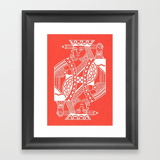 Creativity Is King Framed Art Print