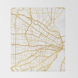 ST. LOUIS MISSOURI CITY STREET MAP ART Throw Blanket