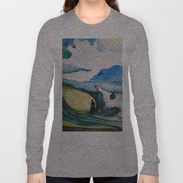 Watercolor Surfer Long Sleeve T-shirt