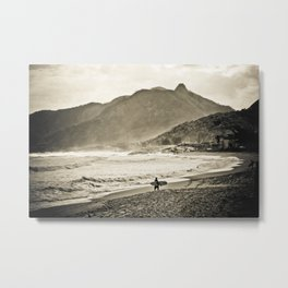 The Surfer and the Mountain Metal Print