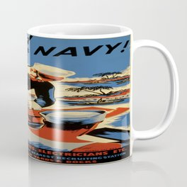 Vintage poster - Build for your Navy! Coffee Mug