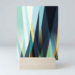 mid century geometry Mini Art Print