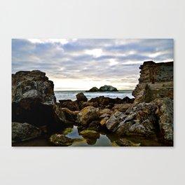 Scene Between Two Rocks Canvas Print