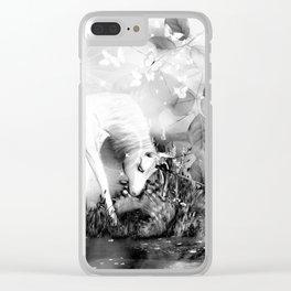 Einhorn - schwarz-weiß Clear iPhone Case