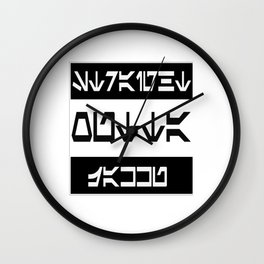 Straight Outta Jakku Wall Clock
