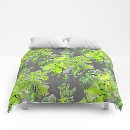 Chartreuse pattern Comforters