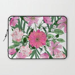 Boho chic garden floral design Laptop Sleeve