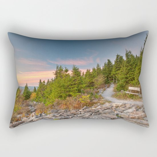 Spruce Knob Twilight Trail Rectangular Pillow