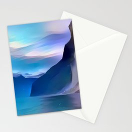 Minimalist Seven Sisters Waterfall Stationery Cards