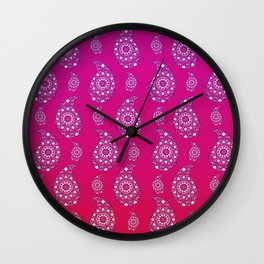Paisley pattern design Wall Clock