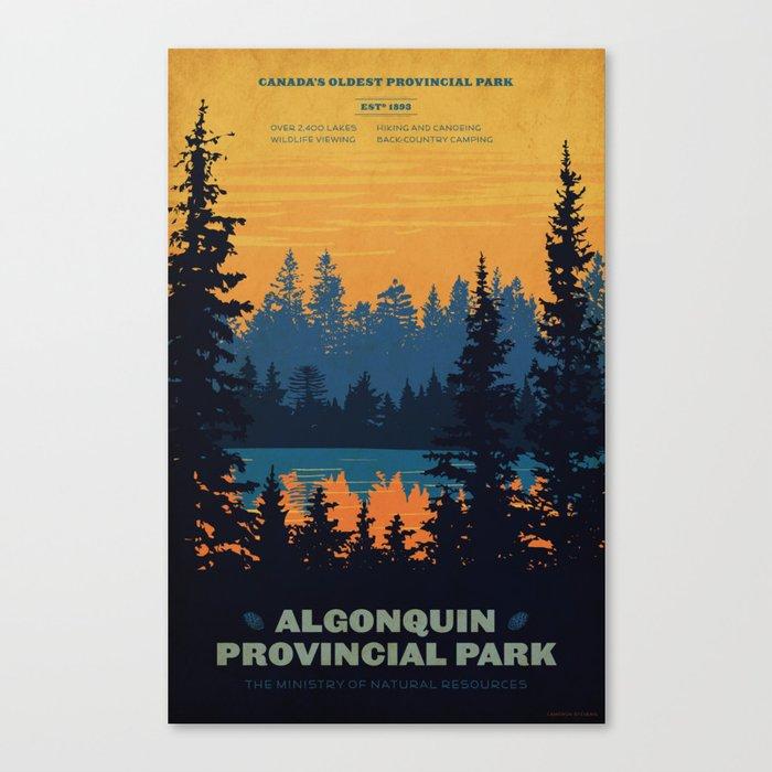 Algonquin Park Poster Leinwanddruck