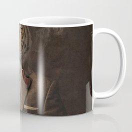 The pipe smoking Gentle Tiger Coffee Mug
