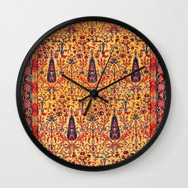 Kerman South Persian Garden Rug Print Wall Clock
