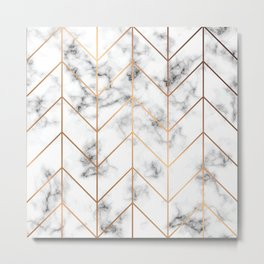 Marble Print pattern, Marble, modern marble print, marble print, geometric, marble look Metal Print