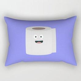 Toilet paper with face Rectangular Pillow