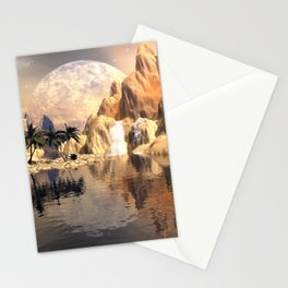 Mystical moon landscape Stationery Cards