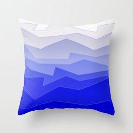 Chaos Sea Blue Throw Pillow