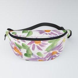Purple Wildflowers Fanny Pack