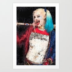 crazy girl Art Print
