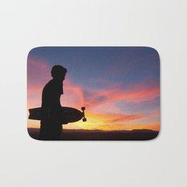 Longboard Silhouette Bath Mat