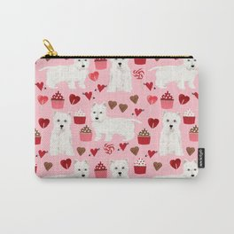 Westie west highland terrier dog breed valentines day cute dog person must have gifts pet portraits Carry-All Pouch
