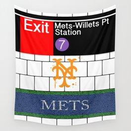 NYC Mets Subway Wall Tapestry